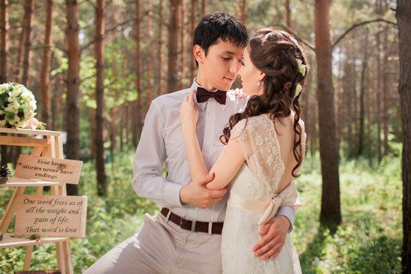 рустикальный стиль свадьбы