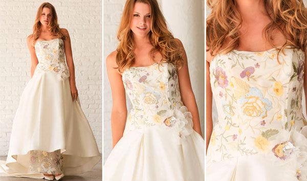 свадебное платья с орнаментом