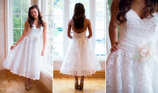 свадебное платье с пышной короткой юбкой