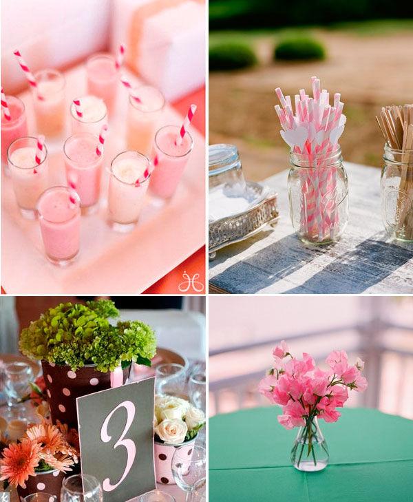оформление свадьбы в розовом цвете
