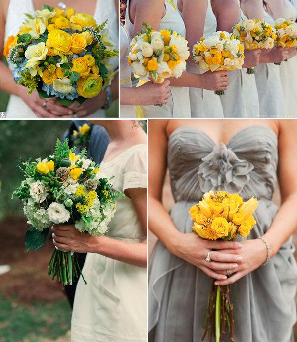 букет невесты желтый