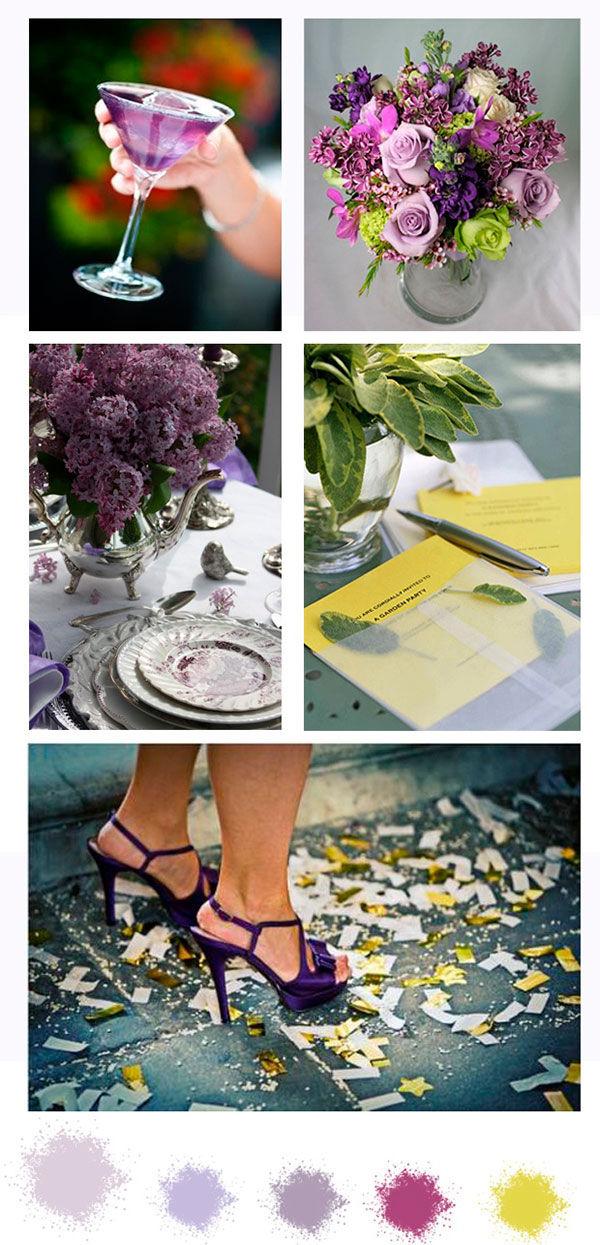 Желто-фиолетовая свадьба