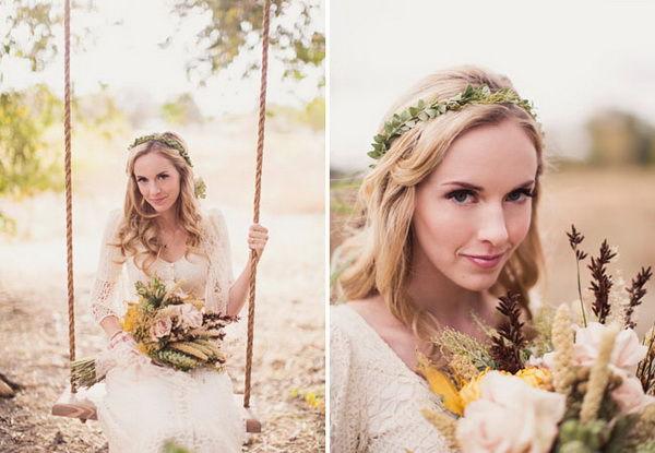 венок из цветов для невесты