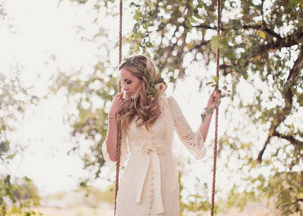 невеста с венком