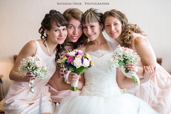 подружки невесты на свадьбе фото