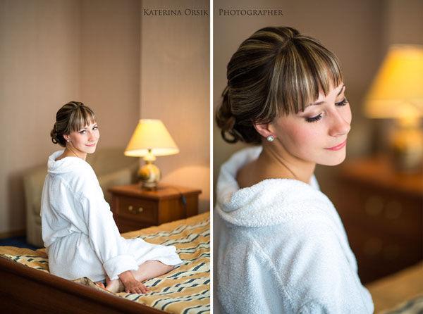 сборы невесты в гостинице