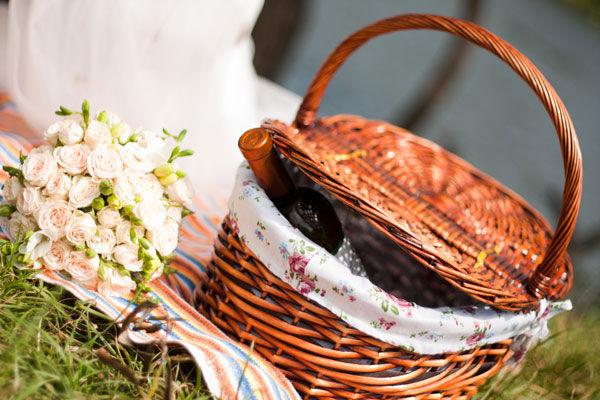 корзина для пикника на свадьбу