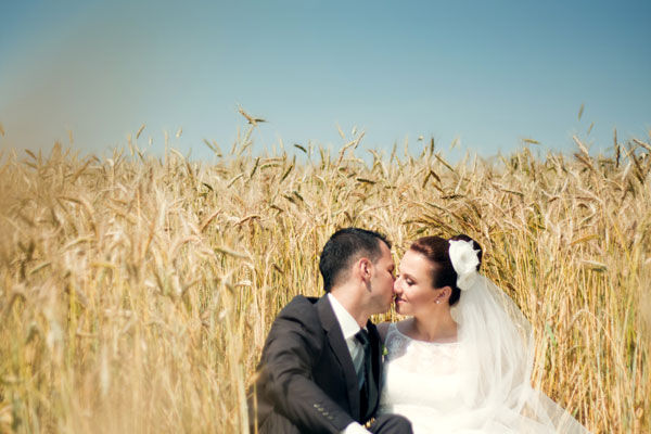 идеи свадебной фотосессии на природе