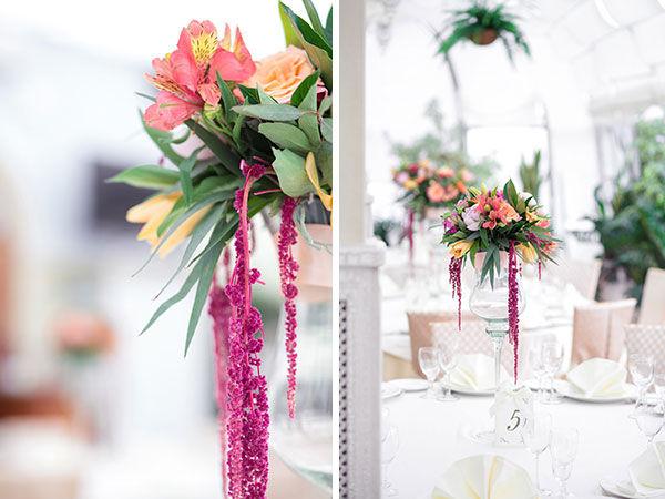 оформление свадьбы цветами фото