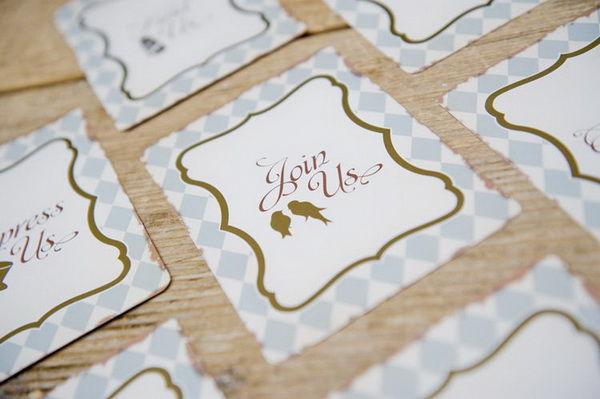рассадочные карточки с птичками