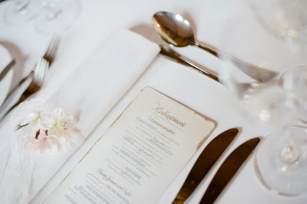 меню на свадьбе