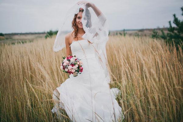 образ невесты осенью
