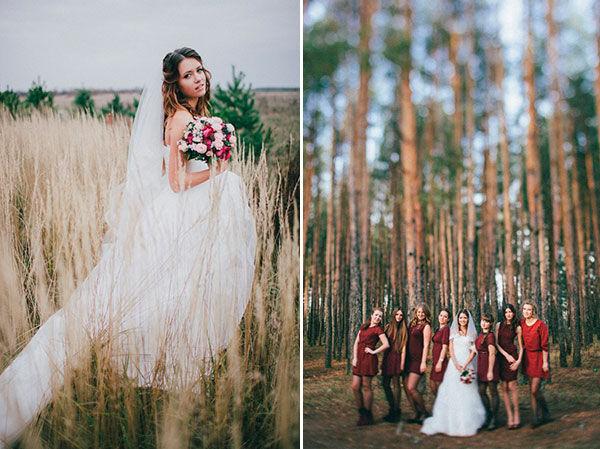 бордовая свадьба
