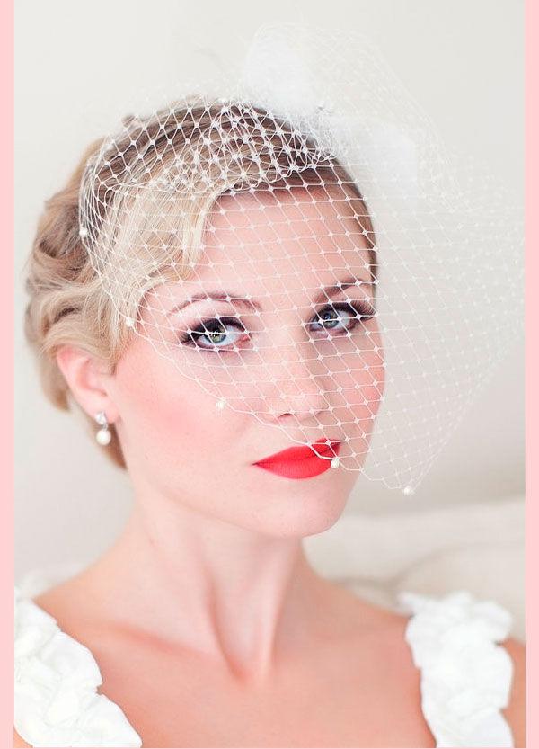 свадебные прически с вуалеткой
