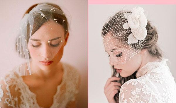 вуалетки свадебные