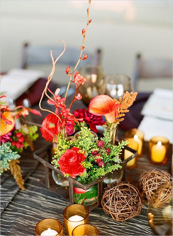 осенняя свадьба декор