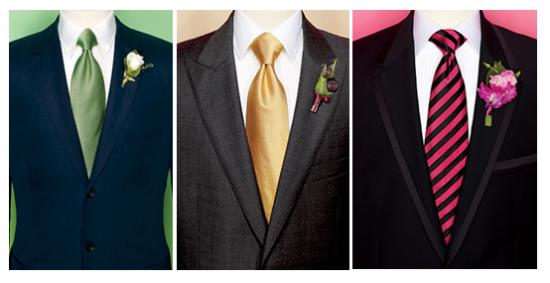 разноцветные галстуки