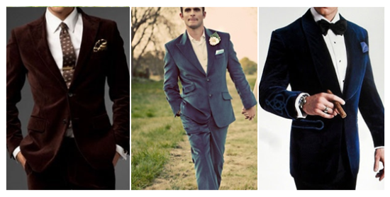 мужской костюм из бархата