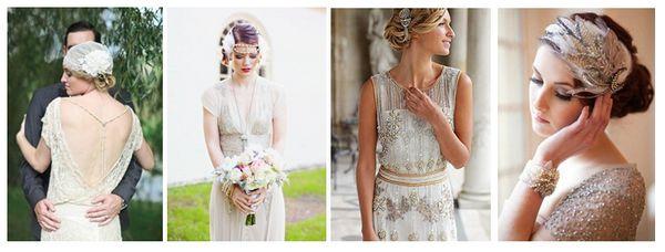 свадебное платье в стиле винтаж