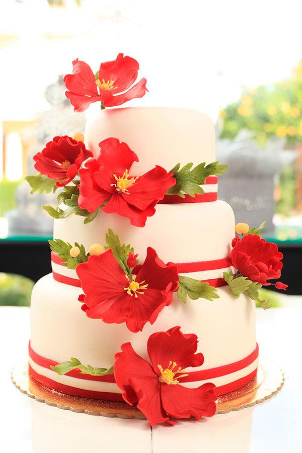 свадебный торт с маками