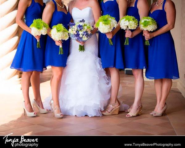 синие платья подружек невесты