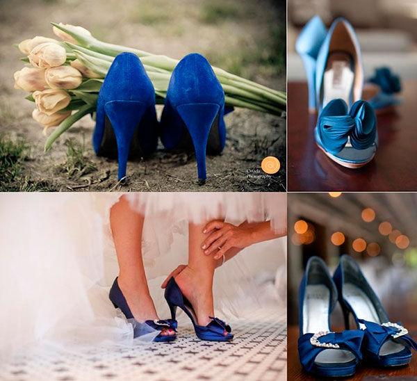 синие туфли на свадьбу