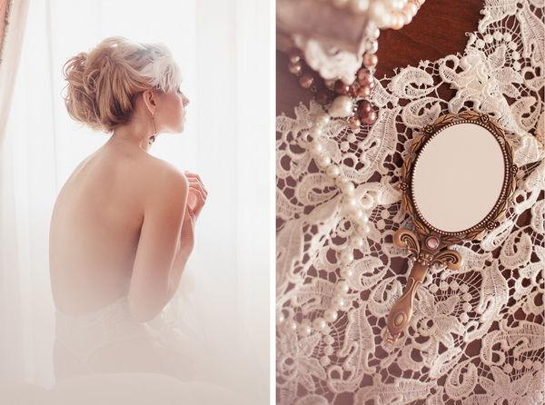 будуарная съемка утра невесты