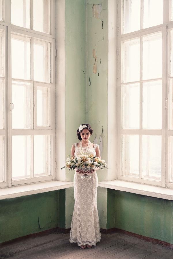 образ невесты в стиле винтаж