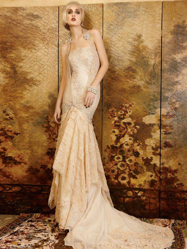 свадебные платья кремового цвета