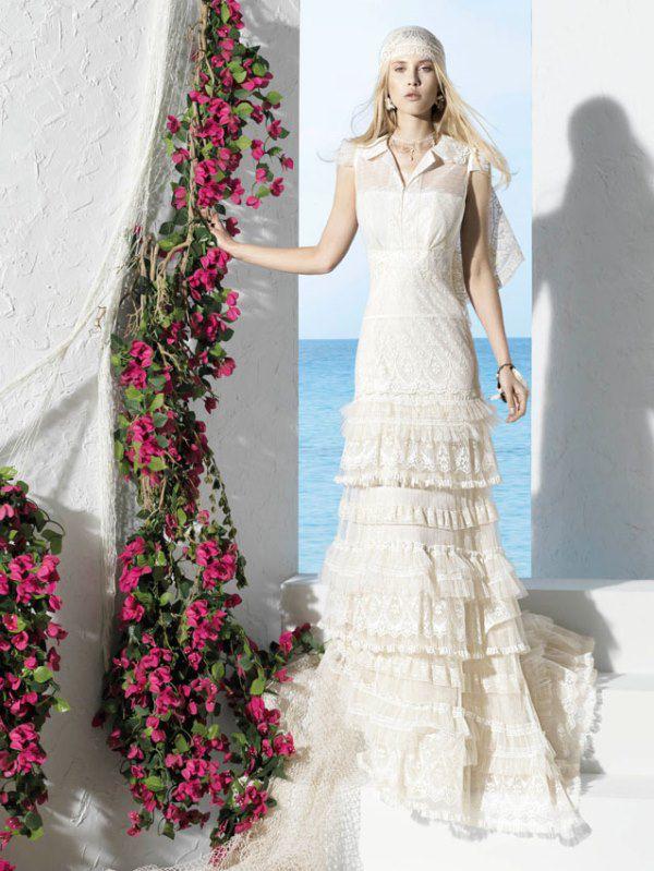 фото свадебных платьев с кружевом