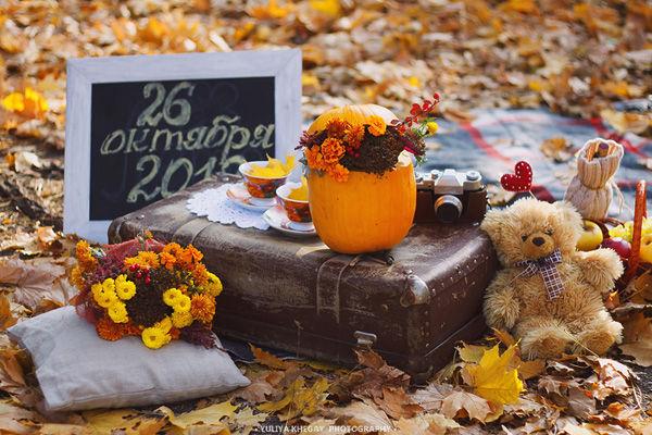свадьба осенью оформление