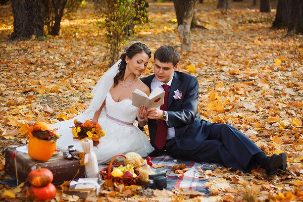 оформление свадебной фотосессии осенью