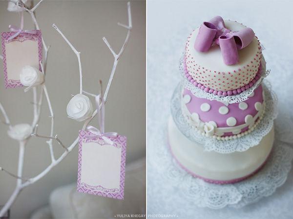 свадебный торт и дерево пожеланий