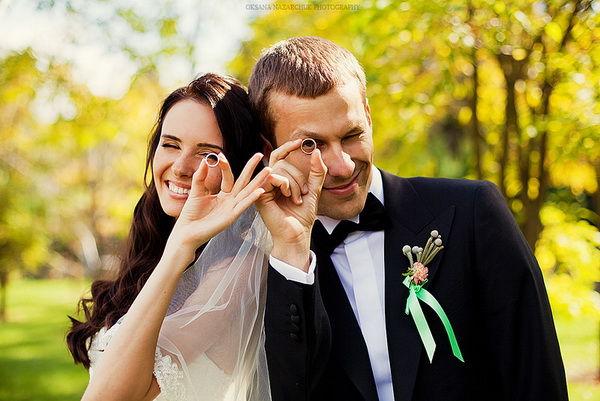 свадебная фотосессия на природе осенью