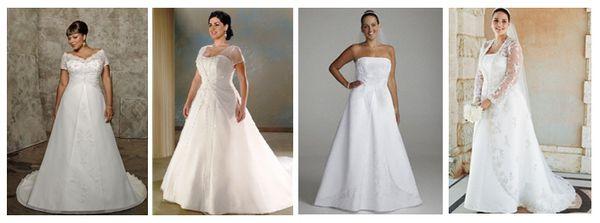 свадебные платья для пышных невест