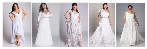 свадебные платья V-образный вырез