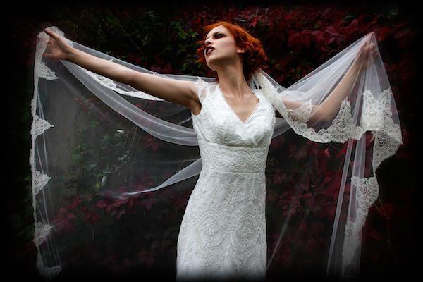 готический образ невесты