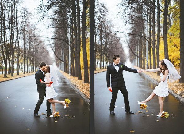 свадебная фотосессия осенью в Москве