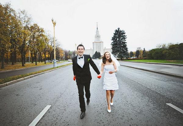 свадебная фотосессия у МГУ