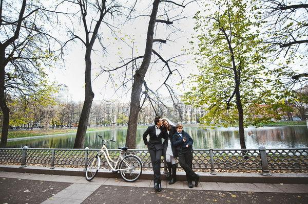 свадебная фотосессия осенью на природе