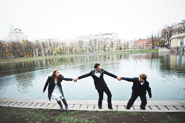 свадебная фотосессия на Патриарших прудах