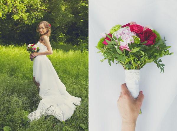 букет невесты розовый фото