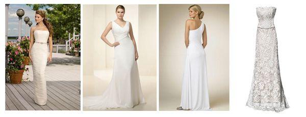 лаконичные свадебные платья