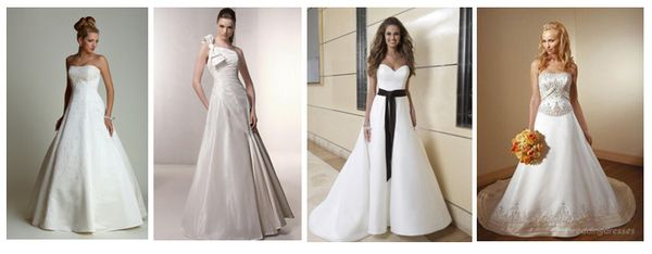свадебные платья силуэт а