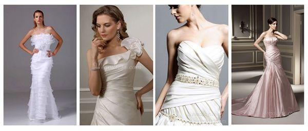 свадебные платья без бретелек