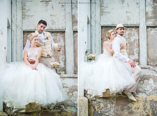свадебная фотосессия в стиле винтаж