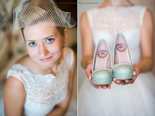 невеста с вуалеткой