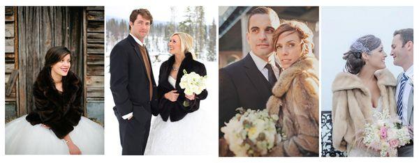 свадебные платья с шубкой фото