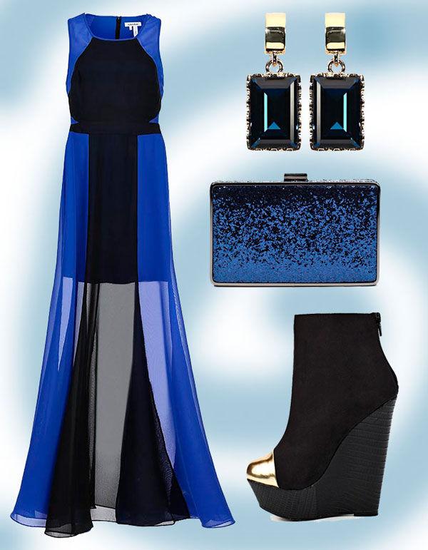длинные платья синего цвета