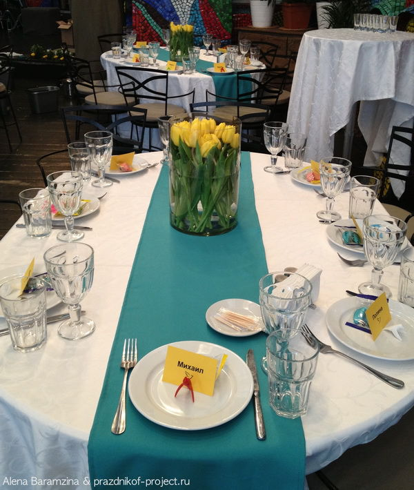 оформление гостевых столиков